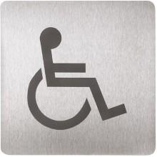 SANELA SLZN 44AC Piktogram WC invalidní, 120 x 120 mm, nerez 75443
