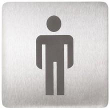 SANELA SLZN 44AA Piktogram WC muži, 120 x 120 mm, nerez 75445