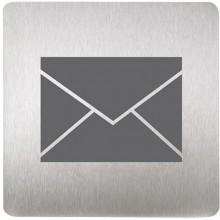SANELA SLZN 44L Piktogram poštovní schránka, 120 x 120 mm, nerez 85441