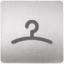 SANELA SLZN 44G Piktogram šatna, 120 x 120 mm, nerez 85445