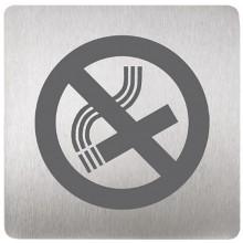 SANELA SLZN 44F Piktogram zákaz kouření, 120 x 120 mm, nerez 85446