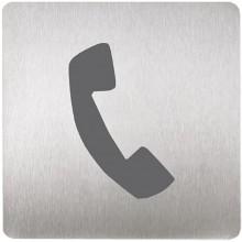 SANELA SLZN 44C Piktogram telefon, 120 x 120 mm, nerez 85449