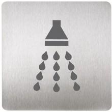 SANELA SLZN 44R Piktogram sprcha, 120 x 120 mm, nerez 95446