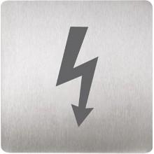 SANELA SLZN 44P Piktogram pozor elektrické zařízení, 120 x 120 mm, nerez 95447