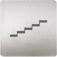 SANELA SLZN 44M Piktogram schody, 120 x 120 mm, nerez 95449