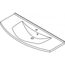 SAPHO ARAS 91211 umyvadlo 120x50,5cm, litý mramor, bílá