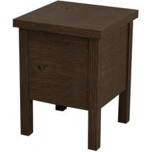 SAPHO BRAND stolička s úložným prostorem 35x46x35cm, mořený smrk