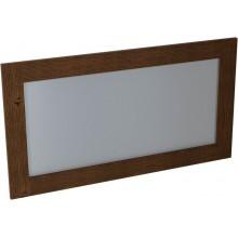 SAPHO BRAND zrcadlo 130x70x2cm, mořený smrk