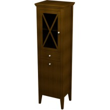 SAPHO CROSS skříňka vysoká s prádelním košem 47x170x39cm, levá, mahagon