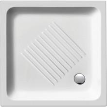 SAPHO Keramická sprchová vanička, čtverec 90x90x12cm 439011
