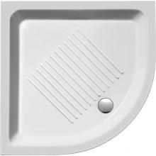 SAPHO Keramická sprchová vanička, čtvrtkruh 90x90x12cm, R550 449011