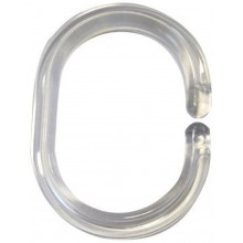 SAPHO Kroužky na sprchový závěs 12 ks, plast, průhledná 49300
