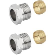 SAPHO PLUS svěrné šroubení pro měď 15mm, nikl CP1299