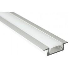 SAPHO LED zápustný profil 22x6mm, eloxovaný hliník, 1m KL3775-1