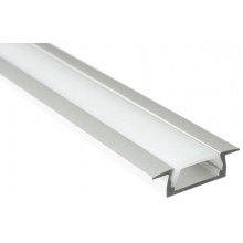 SAPHO LED zápustný profil 22x6mm, eloxovaný hliník, 2m KL3775-2