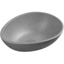 PUNC Betonové umyvadlo včetně výpusti, 53x39cm, šedá žíhaná BH7005