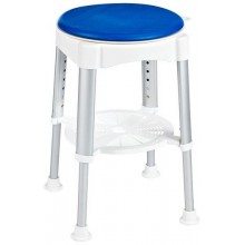 SAPHO SENIOR Stolička otočná, nastavitelná výška, bílá/modrá A0050401