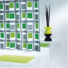 SAPHO UP DOWN sprchový závěs 180x200cm, zelená 42935