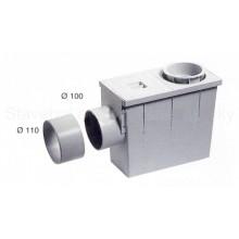 Lapač střešních splavenin HENE boční průměr 90(110) / 100(110) sifon pod okap šedý 003001