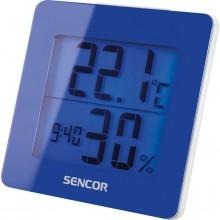 SENCOR SWS 1500 BU teploměr s hodinami a budíkem modrý 35049761