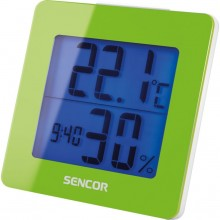 SENCOR SWS 1500 GN teploměr s hodinami a budíkem zelený 35049762