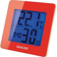 SENCOR SWS 1500 RD teploměr s hodinami a budíkem červený 35049763