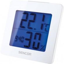 SENCOR SWS 1500 W teploměr s hodinami a budíkem bílý 35049764