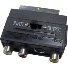 SENCOR Konektor SAV 151-000 SCART-3RCA+SVID INOUT 35024317
