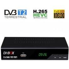 DI-BOX V3 set-top-box FullHD s HEVC H.265 DVB-T2, USB přijímač J4722V3