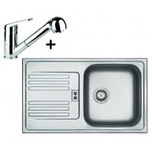 Franke SET N12 nerezový dřez EFN 614-78 + dřezová baterie FC 9547.031