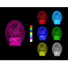 SHARKS 3D LED lampa Vánoční sáně SA099