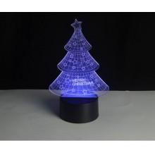 SHARKS 3D LED lampa Vánoční stromek SA098