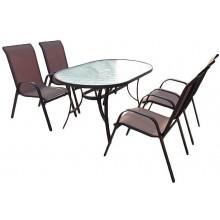 PROMÁČKLÝ OBAL SHARKS SET zahradního nábytku Nerang - Bronz Design SA012 - PLNĚ FUNKČNÍ