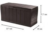 VÝPRODEJ KETER SHERWOOD Stogare zahradní úložný box, 270 l, hnědá 17198596, PRASKLÝ