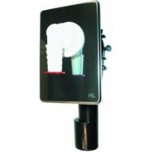 HL 400 pračkový sifon podomítkový s nerezovým krytem, 40/50
