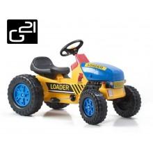 Šlapací traktor G21 Classic žluto/modrý 690811