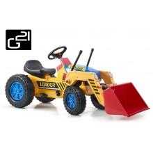 Šlapací traktor G21 Classic s nakladačem žluto/modrý 690813