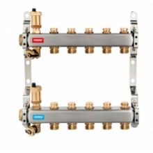 NOVASERVIS Nerezový rozdělovač s regulačními mechanickými ventily, 12 okruhů SN-ROU12S