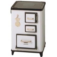 WAMSLER Tea kuchyňský sporák na tuhá paliva, bílý, levý W40111114025