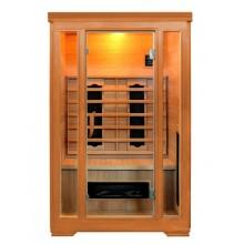Infrasauna GIRA, tmavé dřevo, ovládání uvnitř + zabudovaný MP3 přehrávač + rádio