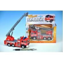 Auto hasiči, kov, 17cm, česky mluvící,na baterie, se zvukem 00065711