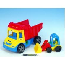 Auto multitruck s nakladačem, plast, 37cm, 2 různé barvy 89032210