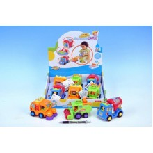 Auto nákladní, plast, 12cm, 3 různé druhy 00028344