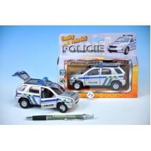 Auto policie, kov, 13cm, česky mluvící, na baterie, se světlem 00065713