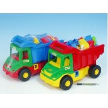 Auto multitruck s kostkami, plast, 37cm, 2 různé barvy 89032330