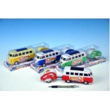 Autobus PEACE, plast, 14cm, s karavanem 8cm, různé barvy 00541147