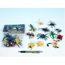 Hmyz, plast, 5cm, 12 různých druhů 00050557