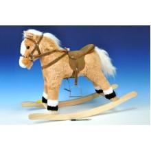 WIKY Kůň houpací plyš 60cm na baterie se zvukem 49116001