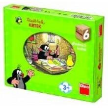Kostky kubus Krtek a přátelé dřevo 6ks 21643093