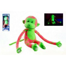 Opice svítící ve tmě, 45x14cm růžová/zelená 00515007